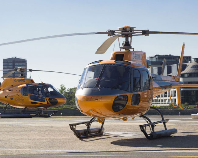 The Brighton Helicopter is owned and operated by A2B Helicharters