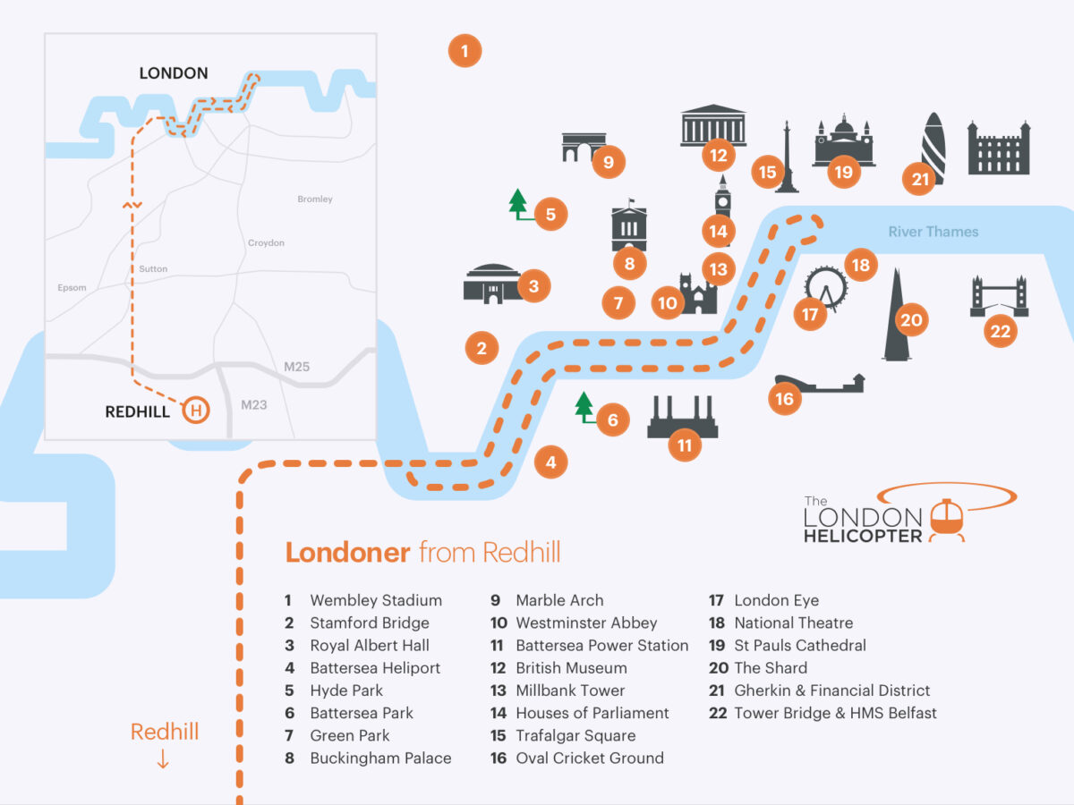 Route map for Londoner